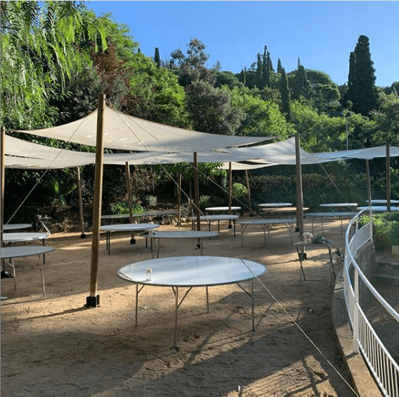 assemblage voiles d'ombrage top tent